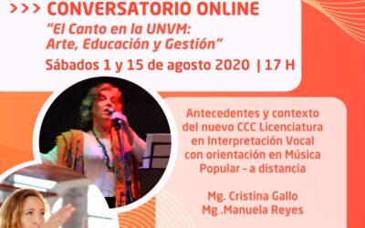 Se realizará un Conversatorio Online sobre Interpretación Vocal en la UNVM