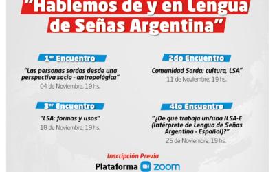 """Se realizará el ciclo de conversaciones """"Hablemos de y en Lengua de Señas Argentina"""""""