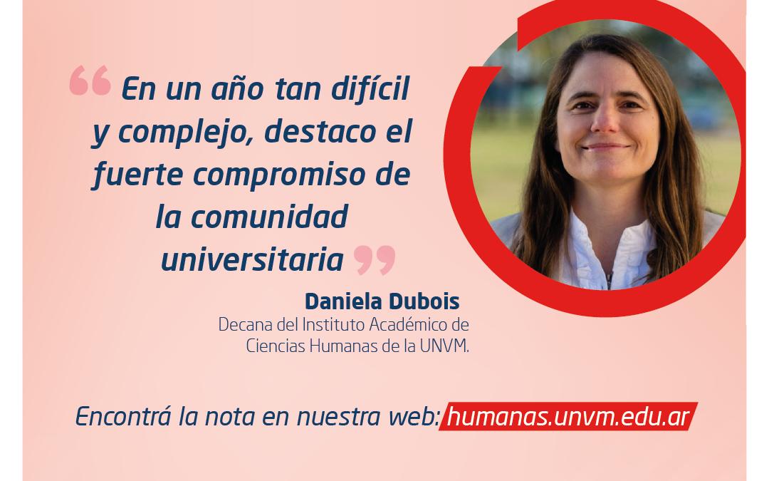 """Daniela Dubois: """"En un año tan difícil y complejo, destaco el fuerte compromiso de la comunidad universitaria"""""""