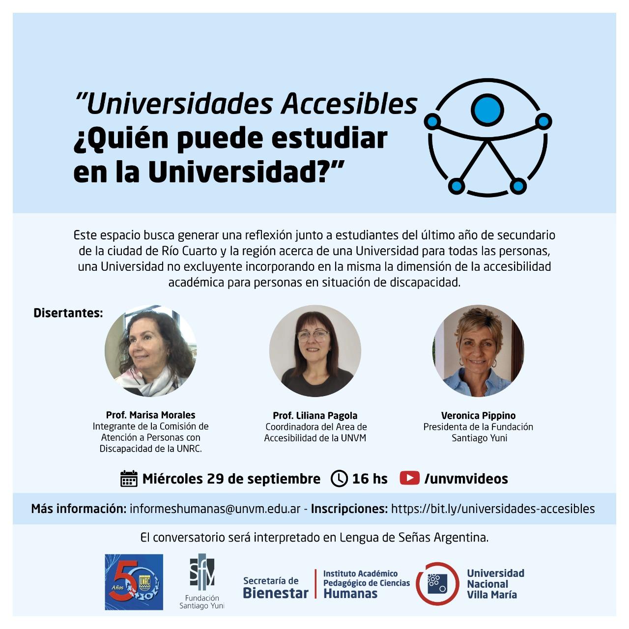 Universidades accesibles