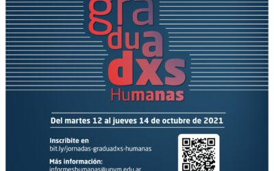 Del 12 al 14 de octubre se llevarán a cabo las Jornadas de Graduados/as del Instituto de Humanas